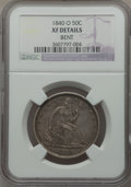 Seated Half Dollars: , 1840-O 50C -- Bent -- NGC. XF. NGC Census: (9/62). PCGS Population(17/73). Mintage: 855,100. Numismedia Wsl. Price for pro...