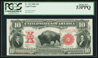 Fr. 122 $10 1901 Legal Tender PCGS About New 53PPQ