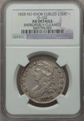 Bust Half Dollars: , 1828 50C Curl Base 2, No Knob -- Improperly Cleaned -- NGC Details.AU. O-102. NGC Census: (59/574). PCGS Population (55/3...
