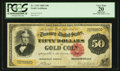 Large Size:Gold Certificates, Fr. 1193 $50 1882 Gold Certificate PCGS Apparent Very Fine 20.. ...