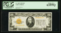 Small Size:Gold Certificates, Fr. 2402 $20 1928 Gold Certificate. PCGS Choice New 63PPQ.. ...