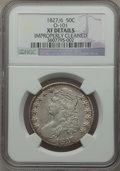 Bust Half Dollars: , 1827 50C Square Base 2 -- Improperly Cleaned -- NGC Details. XF.NGC Census: (100/1838). PCGS Population (180/1549). Mintag...