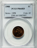 Proof Indian Cents, 1900 1C PR66 Red PCGS....