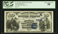 National Bank Notes:Illinois, Quincy, IL - $20 1882 Value Back Fr. 581 The Ricker NB Ch. # (M)2519. ...