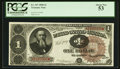Fr. 347 $1 1890 Treasury Note PCGS About New 53