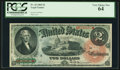 Large Size:Legal Tender Notes, Fr. 42 $2 1869 Legal Tender PCGS Very Choice New 64.. ...