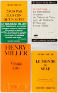 Books:Literature 1900-up, Henry Miller. INSCRIBED. Four French Editions Insribed and Signedto Pierre Sicari. All in publisher's wrappers. Minor edge ...(Total: 4 Items)