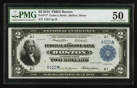 Fr. 747* $2 1918 Federal Reserve Bank Note PMG About Uncirculated 50