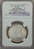 Bust Half Dollars: , 1827 50C Square Base 2 -- Improperly Cleaned -- NGC Details. UNC.O-106. NGC Census: (4/796). PCGS Population (25/360). Mi...