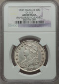 Bust Half Dollars: , 1830 50C Small 0 -- Improperly Cleaned -- NGC Details. AU. O-113.NGC Census: (106/1195). PCGS Population (143/903). Minta...