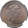 Large Cents, 1797 1C Reverse of 1797, Stems -- Burnished -- NGC Details. AU.S-139, B-21, R.1....