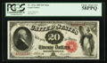 Large Size:Legal Tender Notes, Fr. 147 $20 1880 Mule Legal Tender PCGS Choice About New 58PPQ.. ...