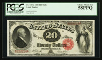 Fr. 147 $20 1880 Mule Legal Tender PCGS Choice About New 58PPQ