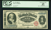 Fr. 215 $1 1886 Silver Certificate PCGS Apparent Extremely Fine 45