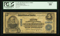 National Bank Notes:Virginia, Richlands, VA - $5 1902 Plain Back Fr. 606 The First NB Ch. #10850. ...