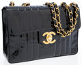Luxury Accessories:Bags, Chanel Black Patent Leather Maxi Single Flap Bag with GoldHardware. ...