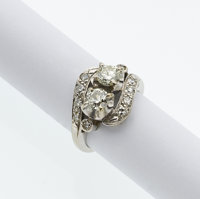 Art Deco Diamond, White Gold Ring