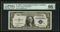 "Small Size:Silver Certificates, Fr. 1610 $1 1935A ""S"" Silver Certificate. PMG Gem Uncirculated 66 EPQ.. ..."