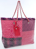 Luxury Accessories:Bags, Chanel Pink & Purple Laminated Tweed Oversize Tote Bag. ...