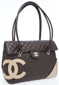 Luxury Accessories:Bags, Chanel Brown Lambskin Leather Cambon Large Flap Bag. . ...