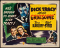 """Movie Posters:Crime, Dick Tracy Meets Gruesome (RKO, 1947). Half Sheet (22"""" X 28"""") StyleB. Crime.. ..."""
