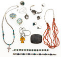 Estate Jewelry:Lots, Multi-Stone, Silver Jewelry Lot. ... (Total: 16 Items)