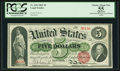 Fr. 63b $5 1863 Legal Tender PCGS Apparent Choice About New 55
