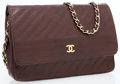 Luxury Accessories:Bags, Chanel Brown Lambskin Leather Small Flap Bag with Gold CC. ...