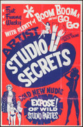 "Movie Posters:Sexploitation, Artist Studio Secrets (Boxoffice International Pictures, 1964).Day-Glo Silk Screen One Sheet (27"" X 42""). Sexploitation.. ..."