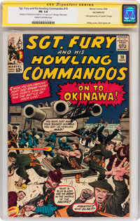 Sgt. Fury and His Howling Commandos #10 Signed by Stan Lee (Marvel, 1964) CGC Signature Series FR 1.0 Cream to off-white...