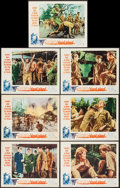 "Movie Posters:War, The Secret of Blood Island (Universal, 1965). Lobby Cards (7) (11""X 14"") & Uncut Pressbook (12"" X 18""). War.. ... (Total: 8Items)"