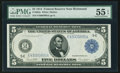 Fr. 863a $5 1914 Federal Reserve Note PMG About Uncirculated 55 EPQ