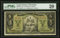 Canadian Currency: , Montreal, PQ- Banque D' Hochelaga $5 Jan. 2, 1917 Ch. # 360-24-02....