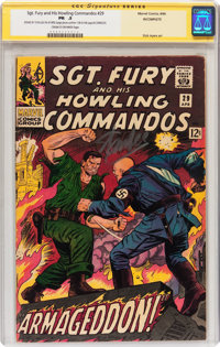 Sgt. Fury and His Howling Commandos #29 Signed by Stan Lee (Marvel, 1966) CGC Signature Series PR 0.5 Cream to off-white...