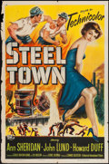 "Movie Posters:Drama, Steel Town (Universal International, 1952). One Sheet (27"" X 41"").Drama.. ..."