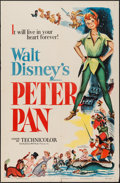 "Movie Posters:Animation, Peter Pan (RKO, 1953). One Sheet (27"" X 41""). Animation.. ..."