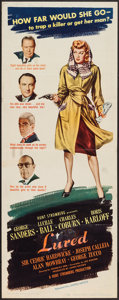"Movie Posters:Mystery, Lured (United Artists, 1947). Insert (14"" X 36""). Mystery.. ..."