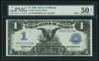 Fr. 235 $1 1899 Mule Silver Certificate PMG About Uncirculated 50 EPQ