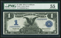 Large Size:Silver Certificates, Fr. 233 $1 1899 Silver Certificate PMG About Uncirculated 55.. ...