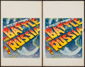 "Movie Posters:War, The Battle of Russia (20th Century Fox, 1943). Window Cards (2)(14"" X 22""). War.. ... (Total: 2 Items)"