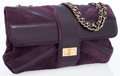 Luxury Accessories:Bags, Chanel Purple Suede Union Jack Mademoiselle Maxi Flap Bag. ...