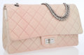 Luxury Accessories:Bags, Chanel Pale Pink & Beige Quilted Lambskin Leather Maxi ReissueDegrade Double Flap Bag with Silver Jewel Chain Strap . ...