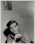 Autographs:Authors, Colin Wilson. Large Format Signed Photograph. Measures 9.5 x 12 inches. Includes the original transmittal envelope. From t...