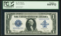 Large Size:Silver Certificates, Fr. 237 $1 1923 Silver Certificate PCGS Gem New 66PPQ.. ...