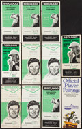 Golf Collectibles:Autographs, 1960's Houston Classic Golf Tournament Pairing Booklets Lot of 11 -With One Multi Signed (Nicklaus)....
