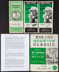 Golf Collectibles:Autographs, 1960's Houston Classic Golf Tournament Pairing Booklets Lot of 4 -With Two Multi Signed (Palmer)....