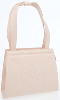 Luxury Accessories:Bags, Chanel Dusty Pink Lambskin Leather Small Tote Bag with Camellia Flower Detail. ...