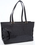 Luxury Accessories:Bags, Versace Black Patent Leather Tote Bag . ...