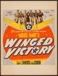 "Movie Posters:War, Winged Victory (20th Century Fox, 1944). Trimmed Window Card (14"" X18.5""). War.. ..."