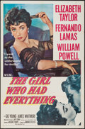 """Movie Posters:Romance, The Girl Who Had Everything (MGM, 1953). One Sheet (27"""" X 41""""). Romance.. ..."""